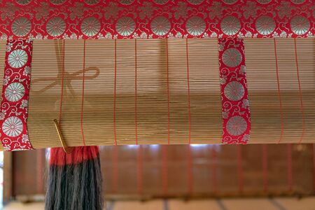 Traditional Japanese blind of the Shoren-in temple in Kyoto, Japan