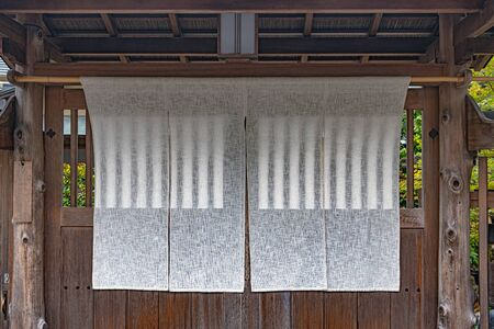 Traditional Japanese fabric curtain