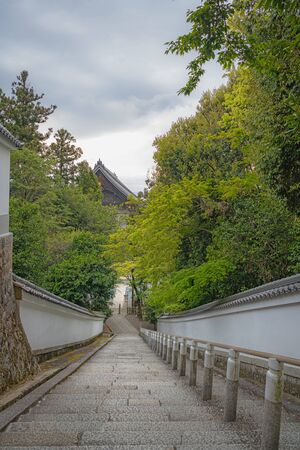 Approach to Honens Mausoleum of Chion-in Temple in Kyoto, Japan