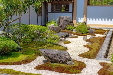 Japanese rock garden of the Zuigan-ji temple in Miyagi, Japan