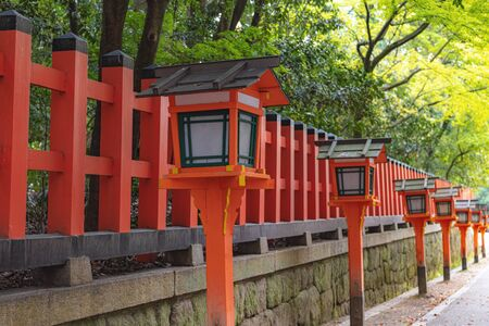 Scenery of the Yasaka jinja shrine in Kyoto, Japan