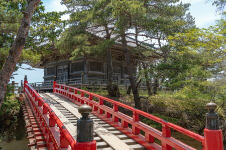 Godaido temple of the Matsushima of the three famous views of Japan