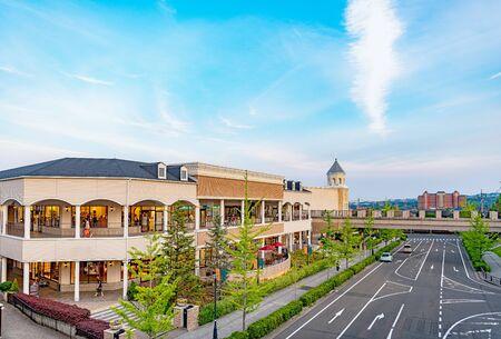 Scenery of beautiful shopping mall