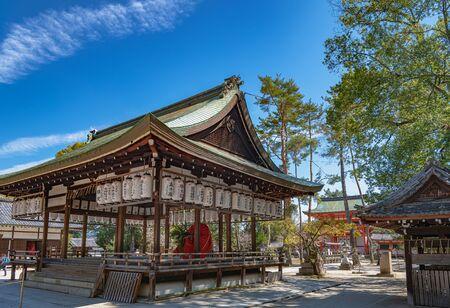 Scenery of the Imamiya Jinja Shrine in Kyoto, Japan 版權商用圖片