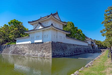 Tonan Sumiyagura (Southeast Corner Tower) of the Nijo Castle in Kyoto, Japan 新聞圖片