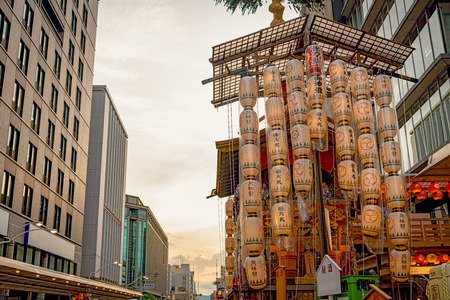 The Gion Festival (Gion Matsuri) takes place annually in Kyoto and is one of the most famous festivals in Japan