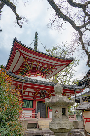 Two storey pagoda of Chion-in temple in Kyoto, Japan Editorial