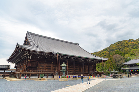 Mieido hall of Chion-in temple in Kyoto, Japan Editorial