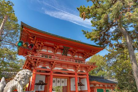 Tomon Gate of the Imamiya Jinja Shrine in Kyoto, Japan 新聞圖片