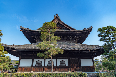 Main Hall of the Kennin-ji Temple in Kyoto, Japan Editorial
