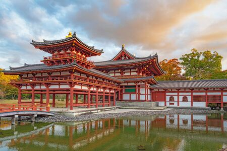 Phoenix Pavilion of the Byodoin Temple in Kyoto, Japan Editorial