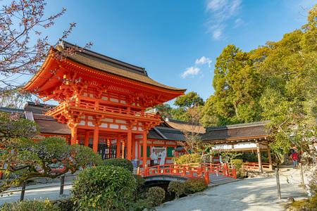 Romon Gate of the Kamigamo Shrine in Kyoto, Japan Sajtókép