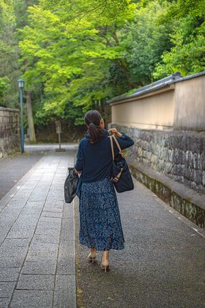 The woman who walks the path