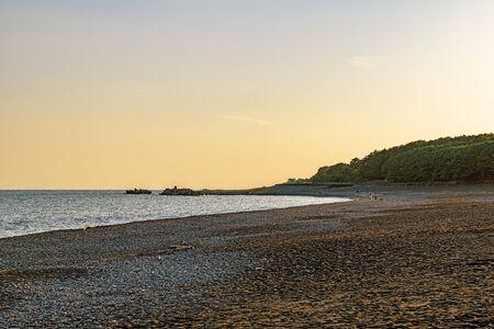 Evening scenery of Miho Beach in Shizuoka, Japan