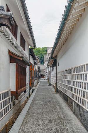 Alley scenery of the Kurashiki beautiful sight area in Okayama, Japan 版權商用圖片