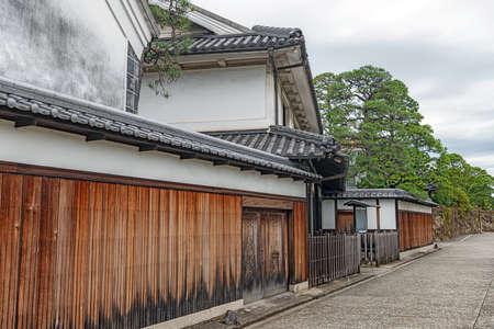 Scenery of the Kurashiki beautiful sight area in Okayama, Japan 版權商用圖片