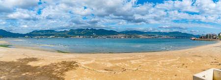 Seaside scenery of Itsukushima islands in Hiroshima, Japan