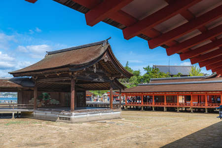 Noh stage of the Itsukushima shrine in Hiroshima, Japan