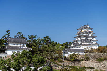 Scenery of the Fukuyama Castle in Fukuyama city, Japan 新聞圖片