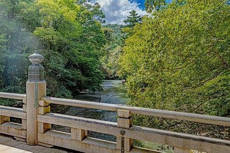 Fuhiyamiya Bridge and the River of the Ise Inner Shrine