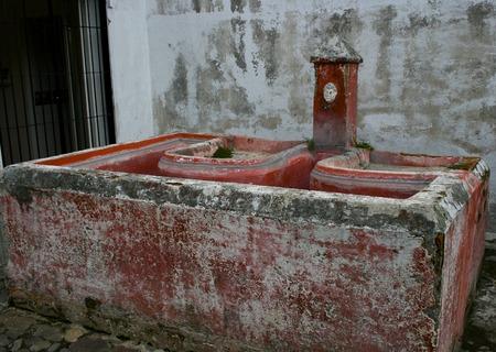 wash basin: Ancient Wash Basin In Guatemala
