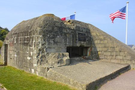 omaha: Omaha Beach German Bunker Editorial