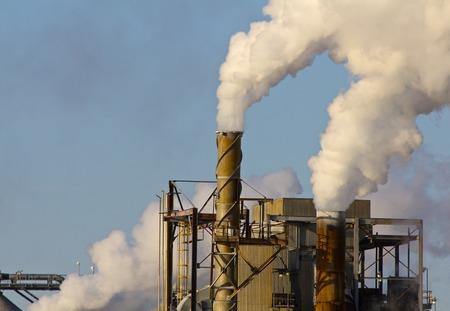 Smokestacks Billowing Industrial Waste