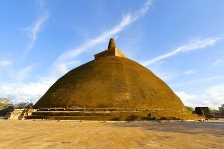 adds: Blue sky adds color to the majestic Abhayagiri Stupa in Sri Lanka