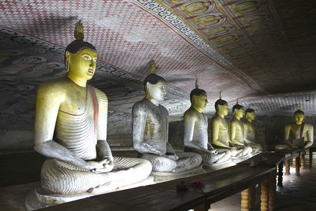enhances: Row of colorful Buddhas enhances one of Sri Lanka\\\\\\\\\\\\\\\\