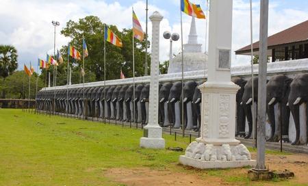 friso: Friso de elefantes Protecci�n de Sri Lanka Stupa 2