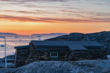 Arctic Ocean in Greenland Stock fotó