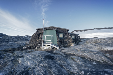 Eskimo inuit house in Greenland Stock fotó