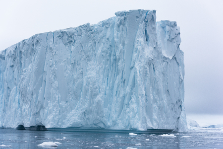 Icebergs on Arctic Ocean in Greenland