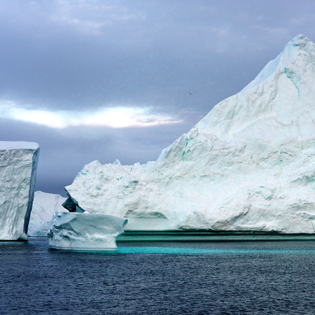 Iceberg on Arctic Ocean in Greenland