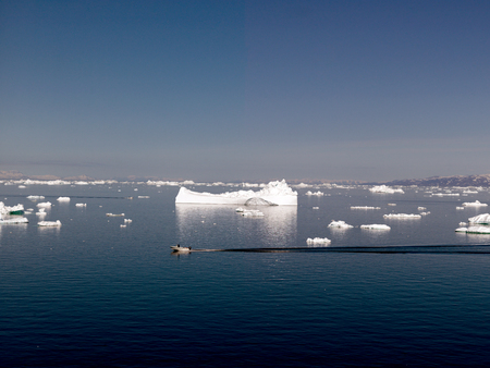 Iceberg on arctic ocean