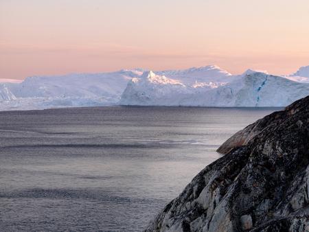 Antarctic iceberg in the snow Banco de Imagens