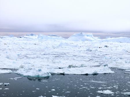 massive glacier on arctic ocean