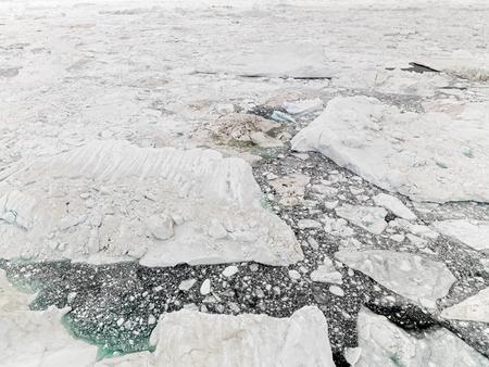Icebergs in Arctic Ocean