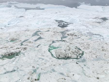 Icebergs melting in the arctic ocean Banco de Imagens