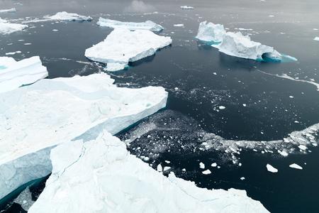 Aerial view of arctic iceberg Banco de Imagens