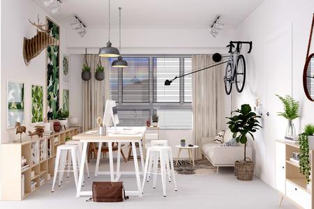 3d render of modern office Stockfoto
