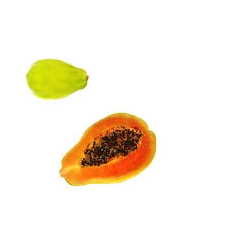 3d render of papaya fruits Stock Photo