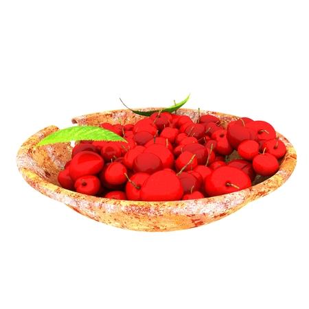 3d render of cherry fruits