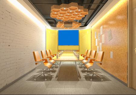 3d render of meeting room