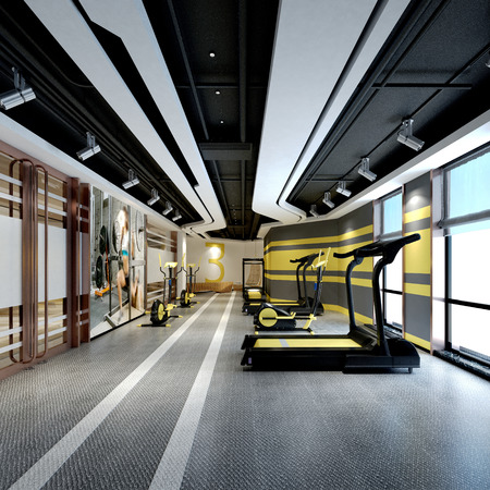 3d render of fitness center