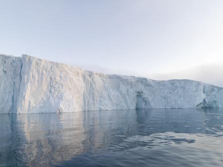 Long massive glacier in Arctic Ocean