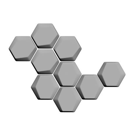 3d render hexagon graphic design Stockfoto