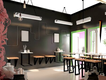 3d render of tea and coffee house