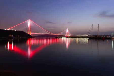 Yavuz Sultan Selim Bridge at night view