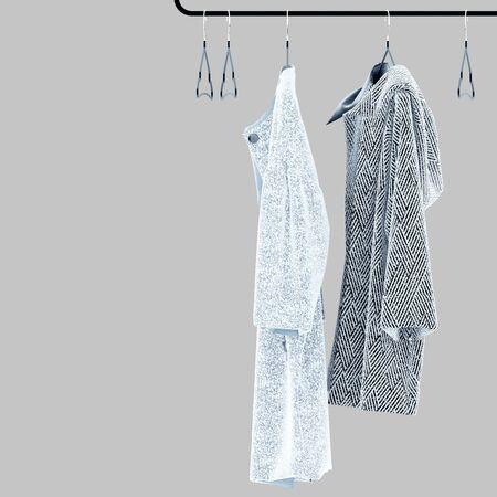 3d render of clothes on hanger